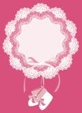 ροζ καρτών μωρών Στοκ φωτογραφία με δικαίωμα ελεύθερης χρήσης