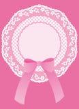 ροζ καρτών μωρών Στοκ Εικόνες