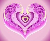 ροζ καρδιών Στοκ εικόνες με δικαίωμα ελεύθερης χρήσης