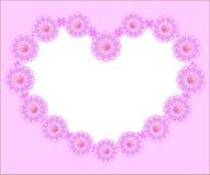 Ροζ καρδιών Chamomile απεικόνιση αποθεμάτων