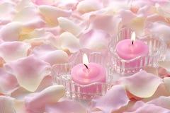ροζ κεριών Στοκ Φωτογραφίες