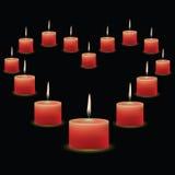 ροζ κεριών Στοκ Εικόνες