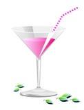 ροζ κοκτέιλ διανυσματική απεικόνιση