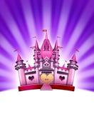 ροζ κοριτσιών κάστρων απεικόνιση αποθεμάτων