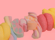 ροζ κοριτσιών καραμελών Στοκ εικόνα με δικαίωμα ελεύθερης χρήσης