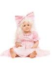 ροζ κοριτσιών φορεμάτων μωρών Στοκ εικόνα με δικαίωμα ελεύθερης χρήσης