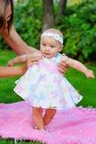 ροζ κοριτσιών φορεμάτων μωρών Στοκ Εικόνες