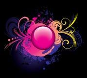 ροζ κουμπιών ανασκόπησης g Διανυσματική απεικόνιση