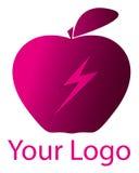 ροζ λογότυπων μήλων Στοκ εικόνα με δικαίωμα ελεύθερης χρήσης