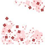 ροζ λουλουδιών ανασκόπ& Στοκ Εικόνες