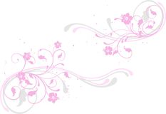 ροζ λουλουδιών ανασκόπ& Στοκ Εικόνα