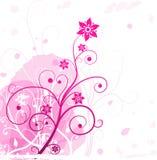 Ροζ λουλουδιών Grunge Στοκ Εικόνες
