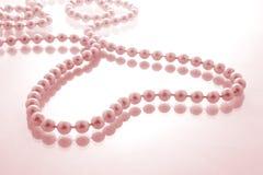 ροζ μαργαριταριών καρδιών Στοκ φωτογραφίες με δικαίωμα ελεύθερης χρήσης