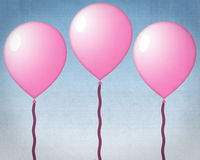 ροζ μπαλονιών Στοκ Φωτογραφίες