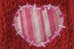 ροζ μπαλωμάτων καρδιών πο&upsil Στοκ Εικόνα