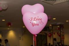 ροζ μπαλονιών Στοκ Εικόνα