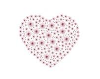 Ροζ λουλούδι καρδιών Στοκ φωτογραφία με δικαίωμα ελεύθερης χρήσης