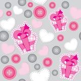 ροζ προτύπων δώρων κιβωτίων Στοκ Εικόνες