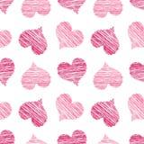 ροζ προτύπων καρδιών που κ& ελεύθερη απεικόνιση δικαιώματος