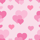 ροζ προτύπων καρδιών Στοκ Εικόνες