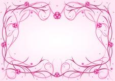 ροζ προτύπων καρδιών Στοκ εικόνα με δικαίωμα ελεύθερης χρήσης
