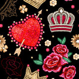 ροζ προτύπων καρδιών συνόρων άνευ ραφής ελεύθερη απεικόνιση δικαιώματος