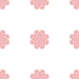 ροζ προτύπων λουλουδιώ&nu Στοκ Φωτογραφίες