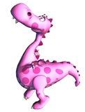 ροζ δράκων του Dino μωρών Στοκ Εικόνες