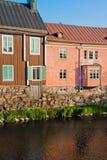 ροζ σπιτιών Στοκ εικόνες με δικαίωμα ελεύθερης χρήσης