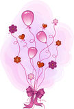 ροζ συγχαρητηρίων Διανυσματική απεικόνιση