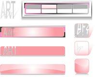 ροζ συλλογής κουμπιών Στοκ εικόνα με δικαίωμα ελεύθερης χρήσης