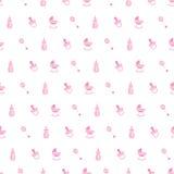 Ροζ σχεδίων μωρών Στοκ Φωτογραφίες
