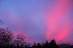 Ροζ σύννεφα στοκ φωτογραφία