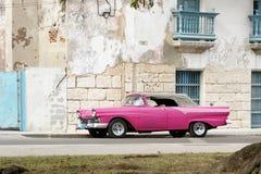 ροζ της Αβάνας cabrio Στοκ φωτογραφία με δικαίωμα ελεύθερης χρήσης