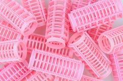 ροζ τριχώματος ρόλερ Στοκ Εικόνες