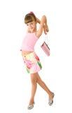 ροζ τσαντών κοριτσιών Στοκ φωτογραφία με δικαίωμα ελεύθερης χρήσης