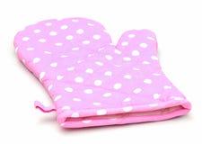 ροζ φούρνων γαντιών στοκ φωτογραφία