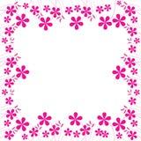 ροζ φυλλώματος 2 λουλ&omicron Στοκ Φωτογραφία