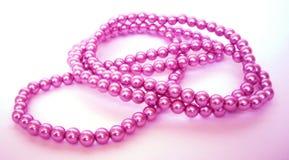 ροζ χαντρών Στοκ Φωτογραφία