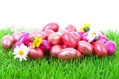 ροζ χλόης αυγών Πάσχας Στοκ εικόνες με δικαίωμα ελεύθερης χρήσης