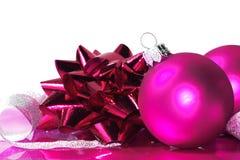 ροζ Χριστουγέννων σφαιρών Στοκ εικόνες με δικαίωμα ελεύθερης χρήσης