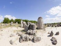 Ροκ Kamani Pobiti μοναδικό φυσικό (μόνιμες πέτρες, πέτρινο δάσος) Στοκ Φωτογραφίες