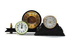 ρολόγια αναδρομικά τρία Στοκ φωτογραφία με δικαίωμα ελεύθερης χρήσης