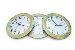 ρολόγια που απομονώνοντ&al Στοκ Φωτογραφίες