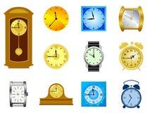 ρολόγια που τίθενται διανυσματική απεικόνιση