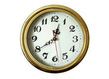 ρολόι γύρω από τον τοίχο Στοκ Φωτογραφίες