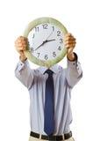 ρολόι επιχειρηματιών που  στοκ εικόνες