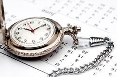 ρολόι ημερολογιακών τσ&epsil Στοκ Εικόνες