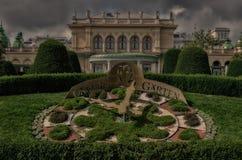 Ρολόι κήπων της Βιέννης Στοκ Εικόνες