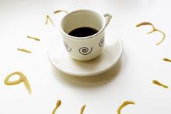 Ρολόι καφέ ο Στοκ Εικόνες